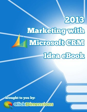 Marketing with Microsoft CRM - ClickDimensions