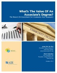 What's the Value of an Associate's Degree? - American Institutes for ...