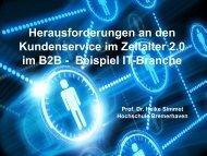 Herausforderungen an den Kundenservice im Zeitalter 2.0 im B2B ...