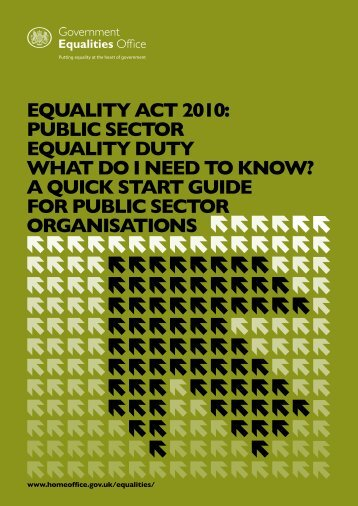 equality duty - Home Office