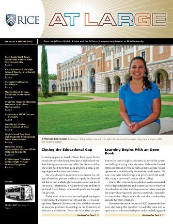 Winter 2013 - Rice University
