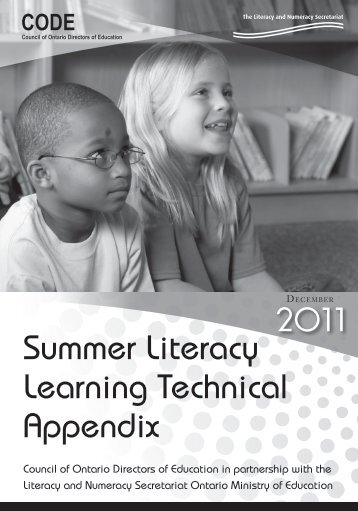 Summer Literacy Learning Technical Appendix