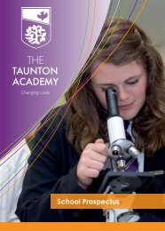 The Taunton Academy School Prospectus - Hays