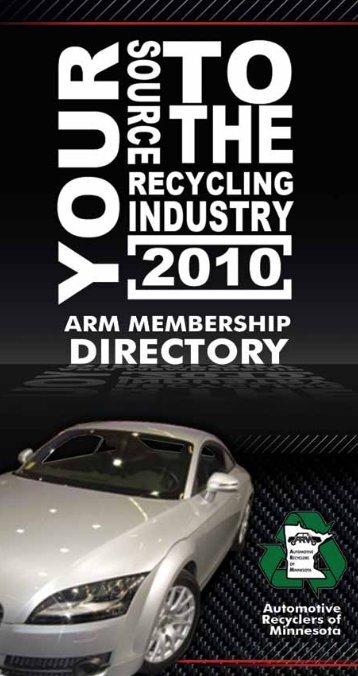 ARM Directory Table of Contents - Automotive Recyclers of Minnesota
