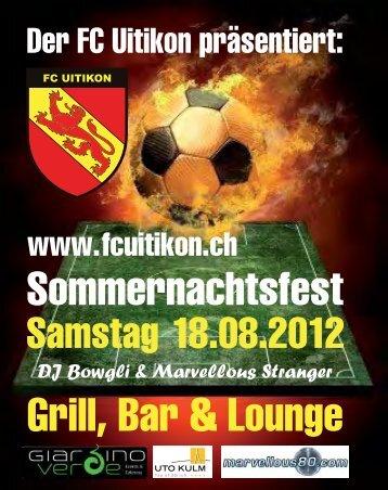 Programm Dorfplauschturnier / Sommernachtsfest - FC Uitikon