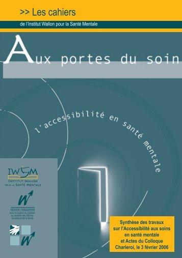 Ouvrir le Cahier 3 en pdf - Institut wallon pour la santé mentale (IWSM)