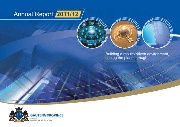 GDF Annual Report - Gauteng Provincial Treasury