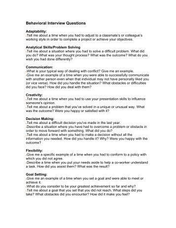 behavior question list The fixed core is a standard set of questions asked by all states that includes questions on demographic characteristics, plus queries on current health behaviors, such as tobacco use and seatbelt use.