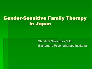 Gender-Sensitive Family Therapy in Japan - cifa