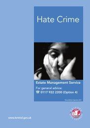 Hate crime (pdf, 123 KB) - Bristol City Council