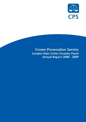 The Hate Crime Scrutiny Panel cycle - Crown Prosecution Service