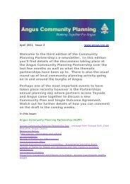 April 2011 - issue 3 (120 KB PDF) - Angus Community Planning