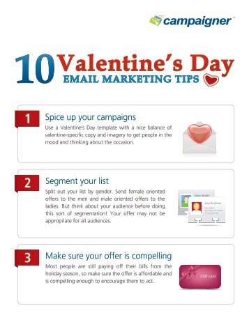 Download – Top 10 Valentine's Email Marketing Tips - Campaigner