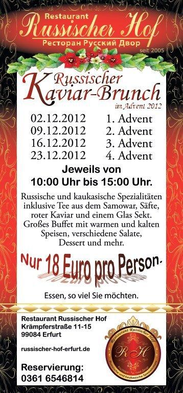 Brunch im Restaurant Russischer Hof Erfurt