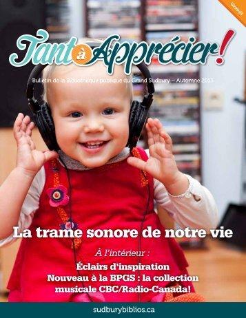 Télécharger l'édition électronique du Tant à Apprécier (PDF, 2.96 Mo)