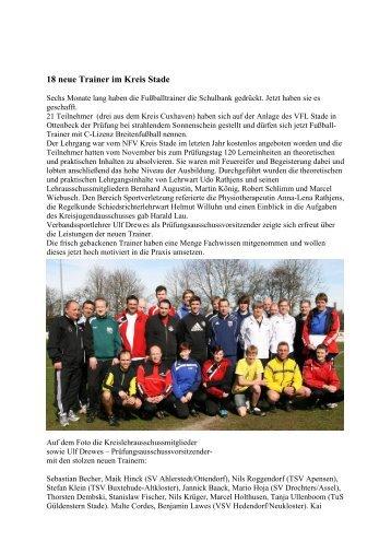 Bericht - NFV Kreis Stade