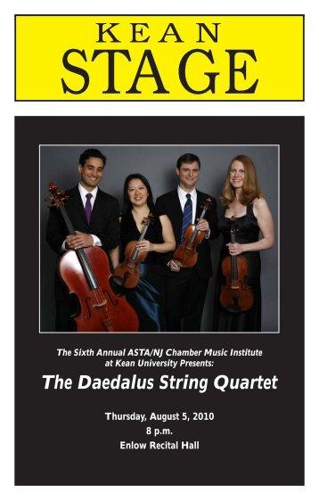 The Daedalus String Quartet - ASTA/NJ