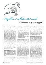Kyrkor i solidaritet med kvinnor 1988-1998 - Sveriges Ekumeniska ...