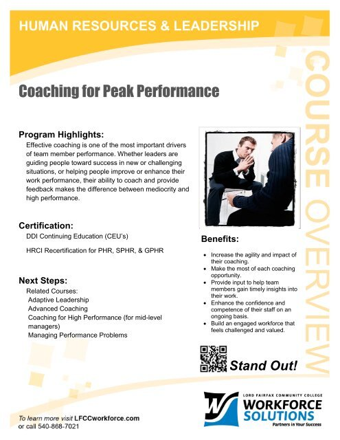 coaching for peak performance.pdf - lfcc workforce solutions
