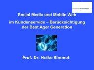 Social Media und Mobile Web im Kundenservice - Prof. Dr. Heike ...