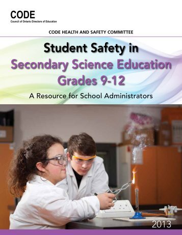 Student Safety in Secondary Science Education Grades 9-12 - CODE