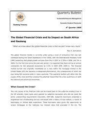 Quartely Bulletin - September 2008 - Gauteng Provincial Treasury
