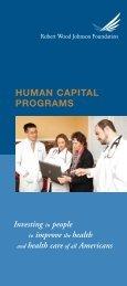 Read the Human Capital brochure - Robert Wood Johnson ...