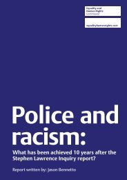 Police and racism - Equality and Human Rights Commission