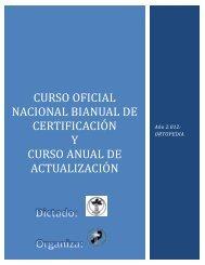 Curso oficial nacional bianual de certificación y curso anual ... - AOTMI