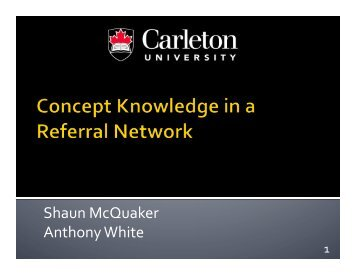 Concept Relations in Referral Networks - Complex Adaptive ...