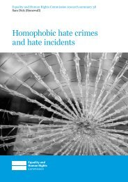 Homophobic hate crimes and hate incidents - Equality and Human ...