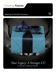 Your Legacy: A Stronger CU - University of Colorado Foundation