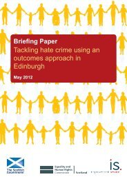 Tackling hate crime using an outcomes approach in Edinburgh