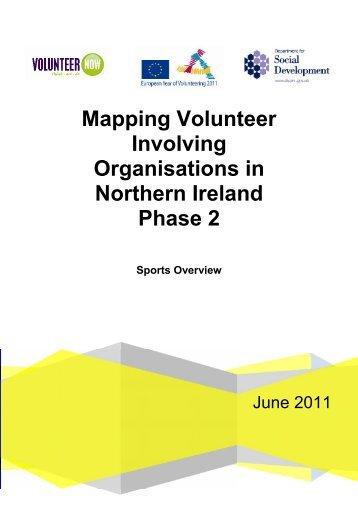 Mapping Volunteer Involving Organisations in ... - Volunteer Now