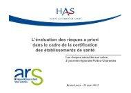 L'évaluation des risques à priori dans le cadre de la certification ...