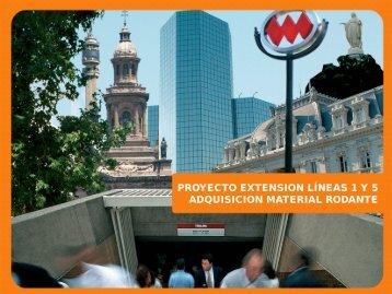 antecedentes de las propuestas - Metro de Santiago
