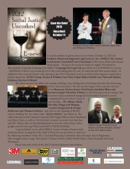 Uncorked 5 Year Sponsorship Award Recipients - LawHelp.org