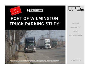 PORT OF WILMINGTON TRUCK PARKING STUDY - Wilmapco