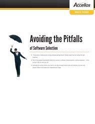 Avoiding the Pitfalls of Software Selection - Accellos