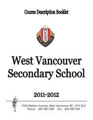 1750 Mathers Avenue, West Vancouver, BC ... - the School District