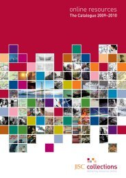 JISC Collections Catalogue of Online Resources 2009-2010 ...