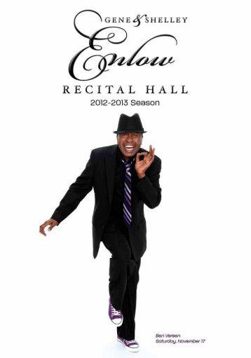 The 2012-13 SeaSon - Enlow Recital Hall - Kean University