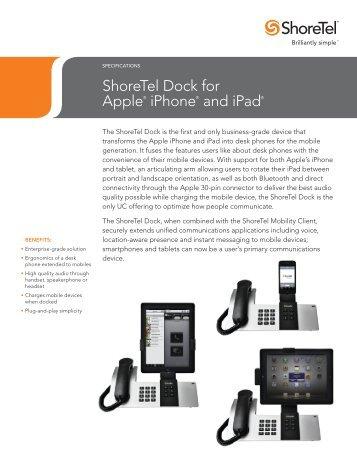 ShoreTel Dock Specs - Adtech Global