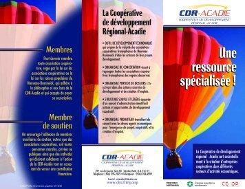 Dépliant CDR-Acadie.pdf - CoopZone
