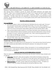 CPAC welcome letter 2011-2012 - the School District