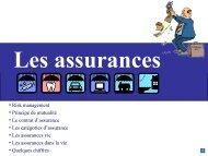 Les assurances dans la vie