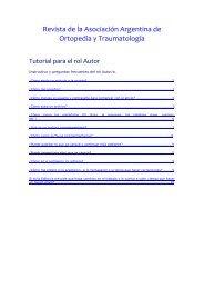Tutorial Autores - Asociación Argentina de Ortopedia y Traumatología