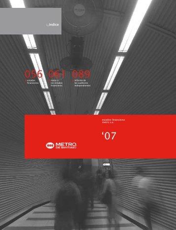 Estados Financieros - Metro de Santiago
