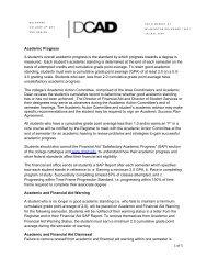 Academic Progress - Delaware College of Art and Design