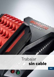Trabajar sin cable - Herramientas eléctricas